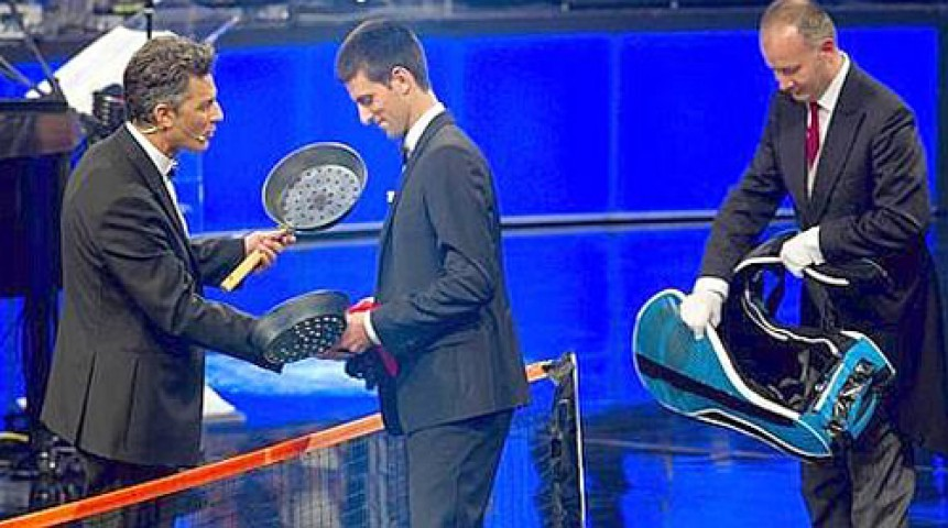 VIDEO FOTO Djokovic a dat racheta pe crati la un show TV Uite ce a ie it