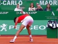 ATP MONTE CARLO FOTO VIDEO Novak Djokovic moment incredibil de furie n duelul la limit cu Philipp Kohlschreiber